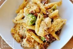Baked Penne With Chicken, Broccoli, And Smoked Mozzarella  **Amazing!  Added parm to the bread crumbs, used half heavy cream and half milk, added a extra mozzarella - could add sautéed mushrooms**