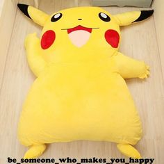 Tatami Bed Mattress Pikachu Filled Huge Giant Sofa Great Gift Anime Fun Love  #Unbranded