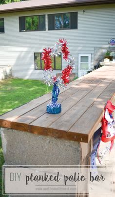 DIY Planked Bar Top // easy outdoor DIY // patio bar top // outdoor DIY Source by northctrynest Outdoor Patio Bar, Outdoor Stone, Diy Patio, Patio Ideas, Outdoor Living, Outdoor Bars, Outdoor Ideas, Backyard Ideas, Outdoor Decor