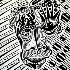 Post 4. A Face and lots of other things. #inktober #markerpen #ink #drawing #design #art #rooker #pattern #Kenya #scifiart