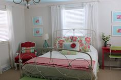 I love this for a little girls bedroom! So pretty and soft.