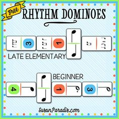 Rhythm Dominoes I almost didn't print this new game, not because it is embarrassingly simple since that has never stopped me before. No, the problem is that in the easy version, the player who goes firstalways wins.But then I remembered that the reason weplay these games is to reinforce music theory in a hands-on way, … … Continue reading →