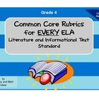 This document contains a rubric specifically aligned to EVERY ELA Literature and Informational Text Standard. Easily score and measure student perf...
