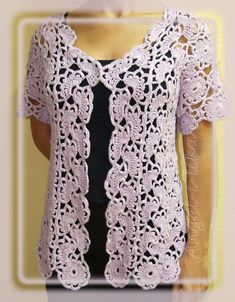 Lace Jacket free crochet graph pattern..I would LOVE to make this...I just need to learn how to crochet first... lol
