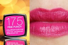 Maybelline • ColorSensational • 175 Pink Punch  #maybelline #swatch #lipstick #pink #pinklips