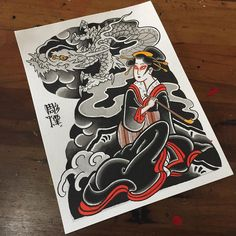 Geisha and Smoke Dragon... disponível para tatuar !!! #painting #dragon #geishau #彫煙 Chest Tattoo, I Tattoo, Tokyo Design, Tattoo Japanese, Japan Style, Creative Tattoos, Japan Fashion, Geisha, Black Tattoos
