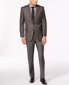 Calvin Klein Charcoal Pindot Slim-Fit Suit Separates $99.99 Go gray all the way. These charcoal suit separates from Calvin Klein are a sophisticated addition to your dress wardrobe.