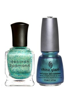 Oceanic    From the sky to the shore: Swirls of sea greens, foamy blues, and hints of gold, conjure up images of sandy surf and crystal waters. Give your nails their dream vacay in these mermaid hues.    Deborah Lippmann Nail Lacquer in Mermaid's Dream, $18; amazon.com    China Glaze Nail Lacquer in Deviantly Daring, $6.99; sallybeauty.com #nailpolish #polish