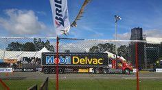 Exhibición de tractomulas. 29 Gran Premio Nacional Mobil Delvac.