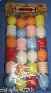 """Vintage """"educational toy"""" colorful locking baby beads – – nos - Kids&Baby Toys My Childhood Memories, Childhood Toys, Great Memories, Early Childhood, Nostalgia, Photo Vintage, Retro Vintage, Vintage Baby Toys, Vintage Toys 1970s"""