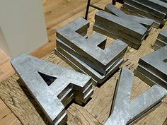 How to make your own Anthropologie's Zinc Letters