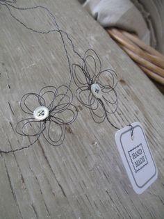 freeform wire flower garland