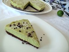Raw key lime pie - I love anything with a brownie base... this looks like a winner.