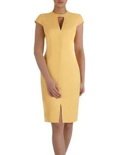 Women's Zenowia II dress elegant creation with an original neckline. - Outfits for Work - Women's Zenowia II dress elegant creation with an original neckline. Simple Dresses, Casual Dresses, Fashion Dresses, Dresses For Work, Long Dresses, Maxi Dresses, Casual Outfits, Summer Dresses, Formal Dresses
