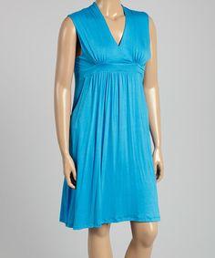 Look at this #zulilyfind! Turquoise Surplice Dress - Plus #zulilyfinds