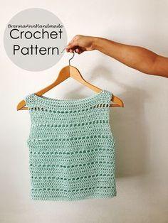 Cropped/blusinha de crochê Crochet Summer Tops, Crochet Crop Top, Chunky Crochet, Crochet Fabric, Diy Crochet, Crochet Baby, Crop Top Pattern, Pattern Pictures, Easy Crochet Patterns
