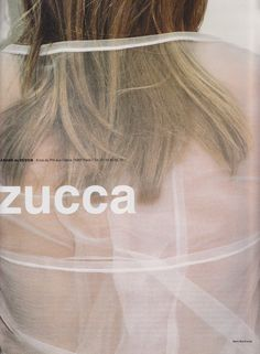 zucca ss98 campaign photographed by mark borthwick More