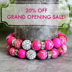 SALE!!!  To celebrate the opening of my Etsy Shop - Ashley Nicole By Julie - Take 20% off your next purchase! Use code: GEMS20 at checkout.   *Discount applied before shipping fees