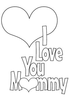 Mothers Day coloring page to print  Holidays  Pinterest