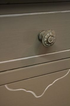 french linen and dark wax on knobs