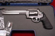 "SMITH AND WESSON 500 MAGNUM STAINLESS 8 3/8""  HI-VIS LIKE NEW  Guns > Pistols > Smith & Wesson Revolvers > Full Frame Revolver"