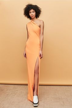 2497f7d387 New Arrivals | Solace London | Designer Womenswear Apricot Dress, Evening  Gowns, One Shoulder