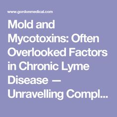 Mold and Mycotoxins: Often Overlooked Factors in Chronic Lyme Disease — Unravelling Complex Chronic Illness