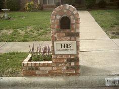 Brick Mailbox | BEAUTIFUL BRICK MAILBOXES of Dallas Texas.
