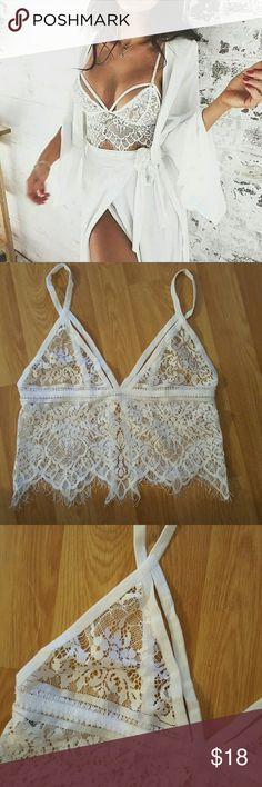 White Lace Bralette New without tags! Size small Intimates & Sleepwear Bras