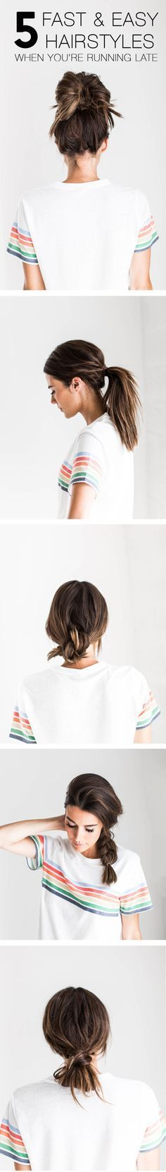 My easy go to hairstyles for those busy mornings!