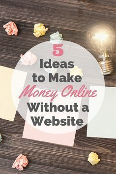 Think you need a website or blog to earn a living online? Think again! Here's 5 ideas you can use to make money online without a blog or website -- from social media affiliate sales to revenue share sites -- there's something for everyone!