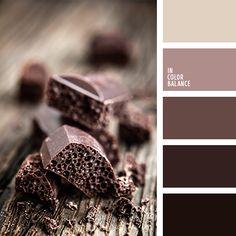 """Цветовая палитра №1164 Темные шоколадные оттенки могут приглянутся людям, которые планируют ремонт в своем кабинете. В большинстве случаев, такие цвета относятся сугубо к """"мужской"""" цветовой гамме, но при правильных акцентах, можно создать очень уютный дизайн помещения для женщины."""