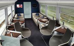 I would definitely ride this train!  Wonderful design from Preistmangoode.