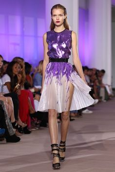 Prabal Gurung // Learn how to drape an a-line dress: http://www.universityoffashion.com/lessons/a-line-dress/