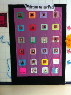 Awesome classroom door idea!