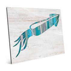 Horizon Squid Wall Art on Acrylic