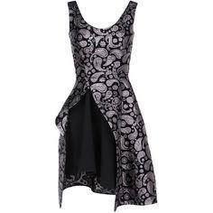 Stella Mccartney Paisley Jacquard Cindy Dress ($3,670) ❤ liked on Polyvore featuring dresses, black heart print, paisley print dress, black metallic dress, stella mccartney, paisley dress und black dress