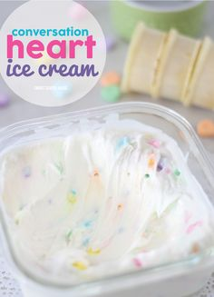 Conversation Heart Ice Cream for Valentine's Day. Love those little candy hearts? You must try this ice cream then!