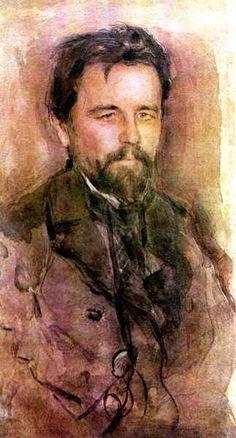 Portrait of Anton Chekhov, 1903, Valentin Serov