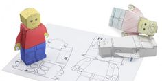 Create Your Own 3D Toy Person Paper Model Template - toys, paper craft, craft, design, paper toy,