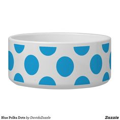 Blue Polka Dots Dog Bowl This design is available  on many products! Click the link and hit the 'Available On' button near the product description to see them all! Thanks for looking!  @zazzle #polka #dots #decor #home #design #dog #bed #pet #animal #friend #family #accessory #accessories #buy #sale #shop #shopping #owner #fun #sweet #fido #woof #awesome #cool #chic #modern #style #bed #collar #leash #bowl #tag