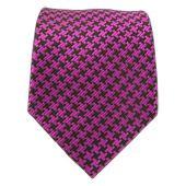 Ties - Textured Tooth - Fuschia/Black - Ties