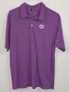 Adidas Climalite MEDINAH Country Club Mens Purple Short Sleeve Polo Shirt Large #adidas #PoloRugby