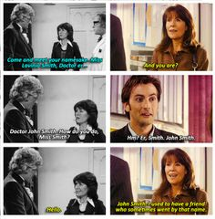 """""""The first and last time Sarah Jane Smith met the Doctor. Right in the feels"""" <---Not True. She met Eleven."""