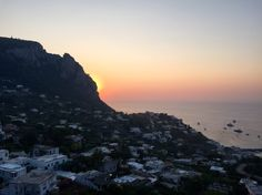 Sunset. #capri
