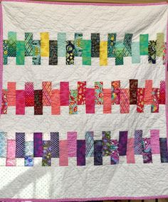 Baby Quilt Tula Pink Fabric 100% Cotton by CottonFrenzy on Etsy https://www.etsy.com/listing/481079671/baby-quilt-tula-pink-fabric-100-cotton