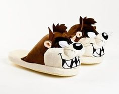 Tasmanian Devil Slippers, Looney Toons, Womwn and Men, Free Shipping
