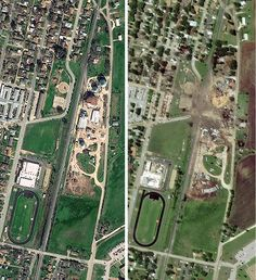 Satellite images show West, Texas before and after fertilizer plant explosion (Photo: DigitalGlobe via Getty Images) #WestTX