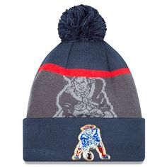 ca80bcf6cd1ee New England Patriots Adult Gold Collection Retro Knit Hat 1