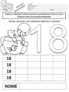 Julilu Atividades Escolares: Atividades com números de 11 a 20
